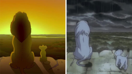 'The Lion King' from a Japanese animated film 'Kimba'