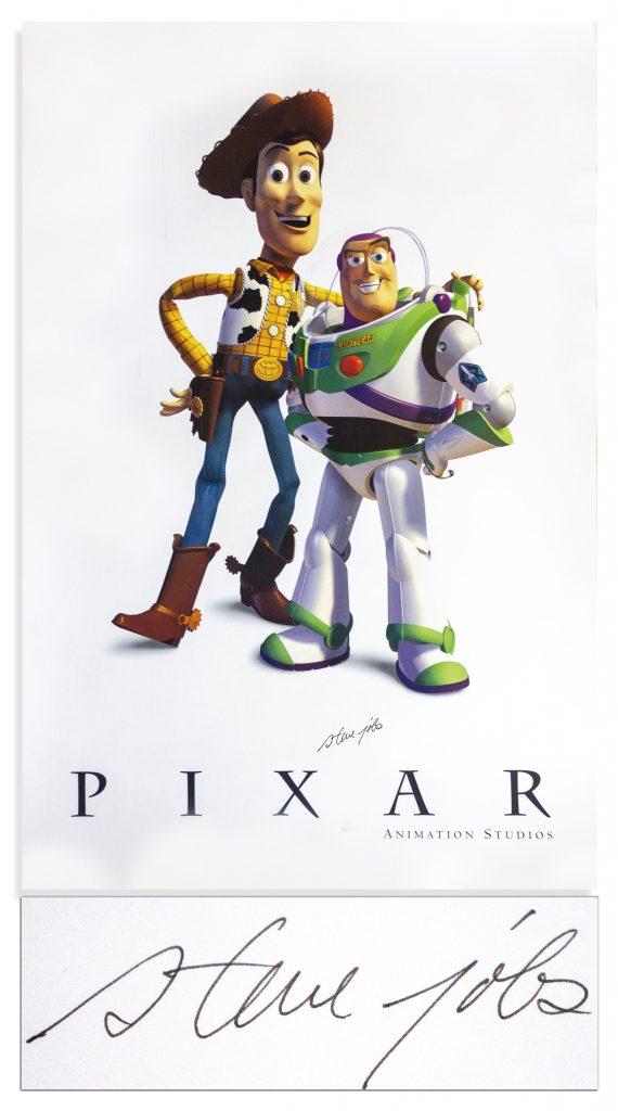 Steve Jobs signed Pixar photo