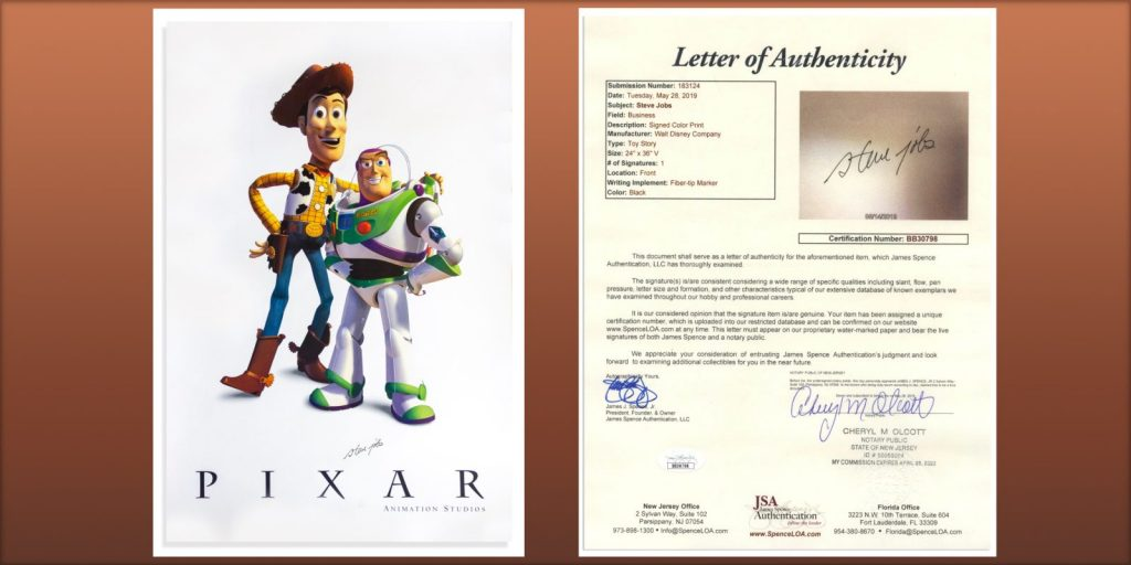 Pixer Letter of Authenticity Animaders