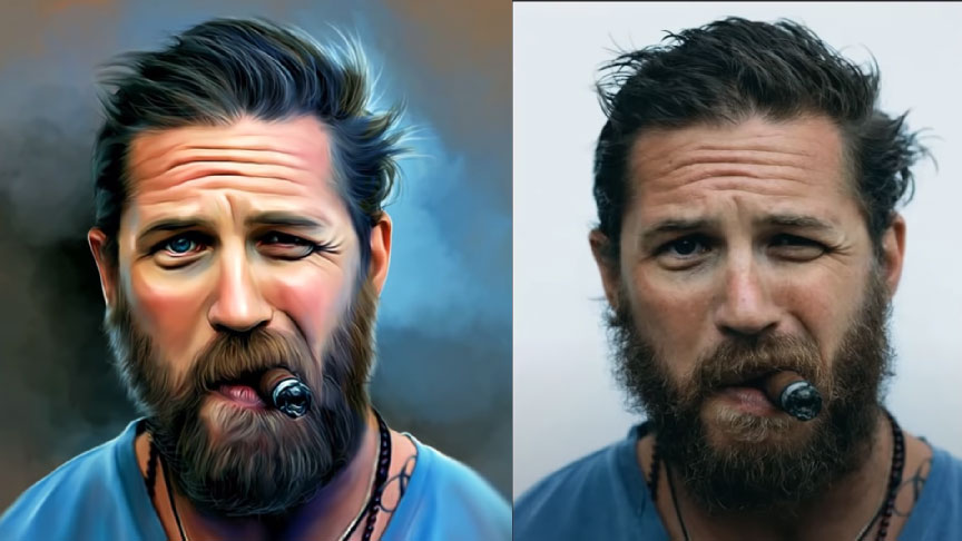 Learn how to create a digital portrait in photoshop